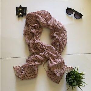 Zara beautiful pink scarf